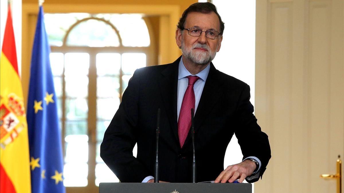 Comparecencia Rajoy Foto El periodico